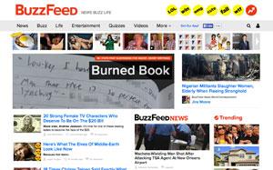 BuzzFeedのトップページ